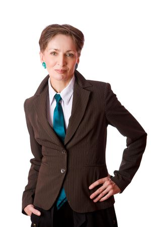 Portrait of Business woman isolated on white Stock Photo - 5102990