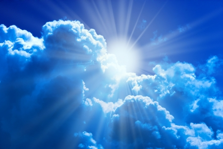 luminous: Sun and clouds beautiful natural religion background
