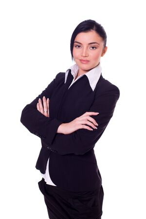beautiful young confident business woman isolated Stock Photo - 6083471