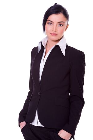beautiful young confident business woman isolated Stock Photo - 6082762