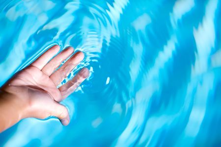 Childs Palm and blue clean crystal water