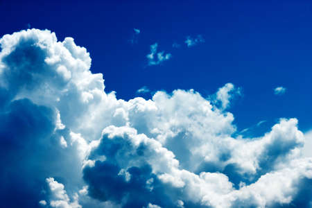 cloudscape: Dramatic cloudscape and sunlight jet view