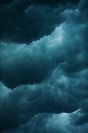 heavy massive stormy clouds with no sunlight Stock Photo - 7811398