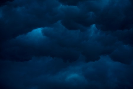 heavy massive stormy clouds with no sunlight  Stock Photo - 7811643