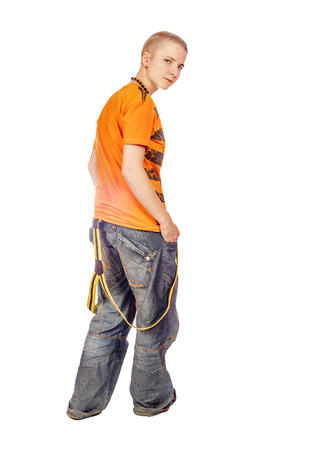 SIC Teenager Looking Back aislados en blanco