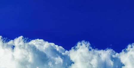 Bright deep blue sky beautiful clouds and fresh air for background Stock fotó