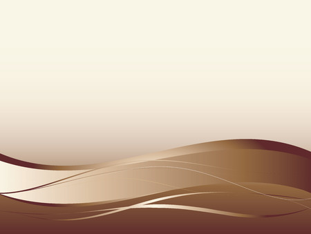 brown: Background with abstract smooth lines and waves