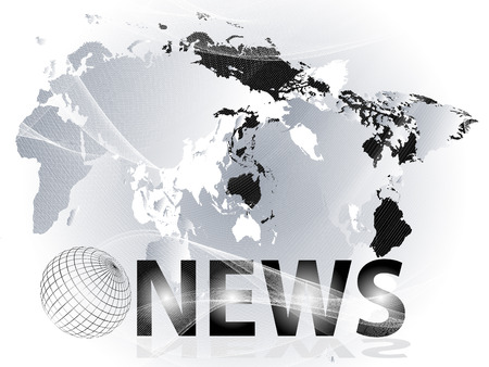 Abstract vector background with planet, maps and presentation of news