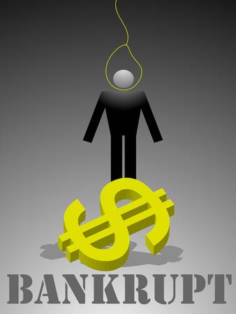 faillite: L'illustration sur le th�me de la crise et la faillite