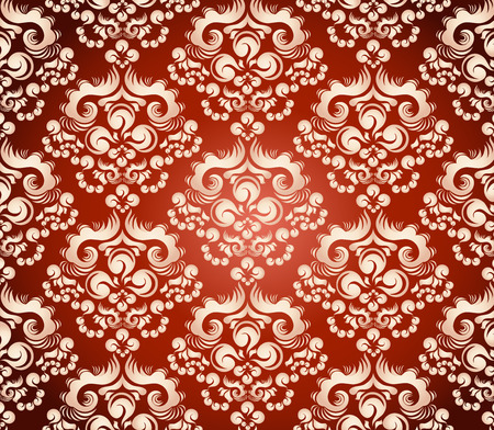 Vector art background with decorativ floral ornament