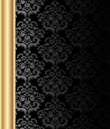 Vector art background with decorativ floral ornament for text Vector