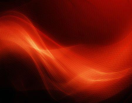 amarillo y negro: Fondo rojo moderno con líneas suaves abstractas