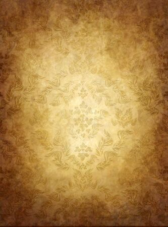 haze: Haze old background with seamless floral ornament