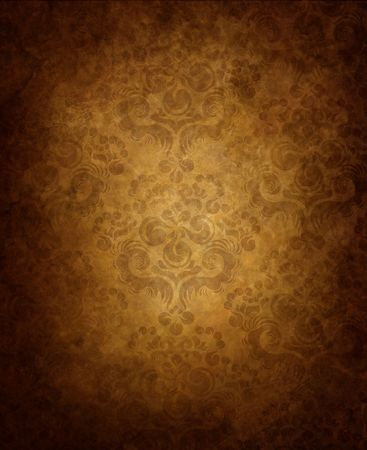 Haze old background with seamless floral ornament