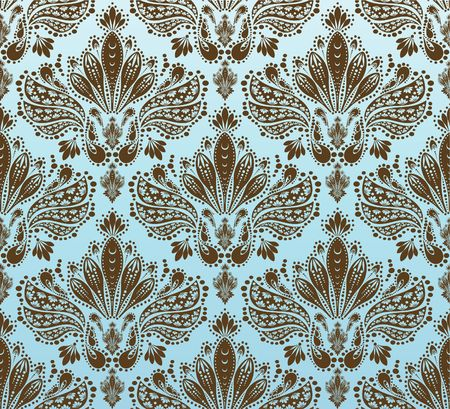 victorian textile: decorative royal seamless floral ornament