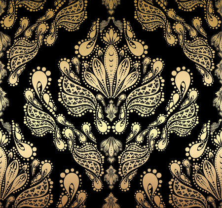 retro lace: Vector decorative royal seamless floral ornament Illustration