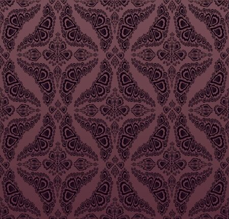 Vector lilac decorative royal seamless floral ornament photo