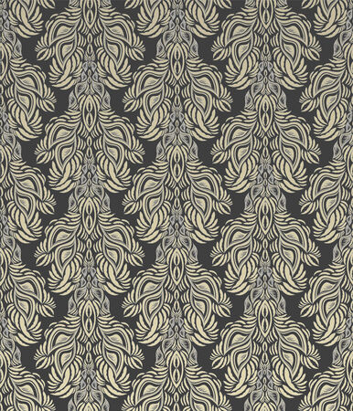 Vector gray decorative royal seamless floral ornament Vector