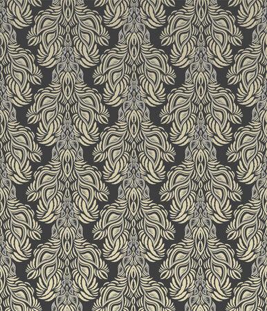 Vector gray decorative royal seamless floral ornament Stock Vector - 5340029
