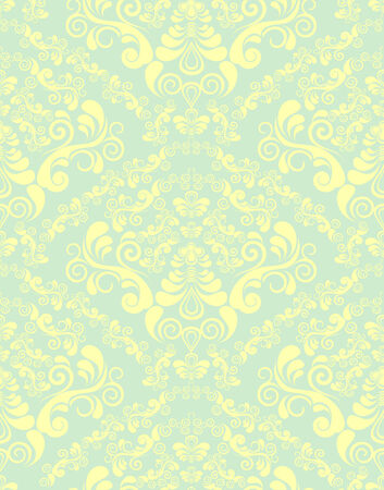 Vector decorative royal seamless floral ornament Vector