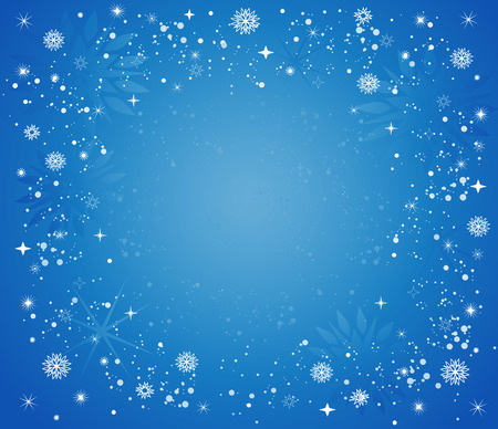 Christmas background with stars, snow and snowflakes Stock Vector - 5638872