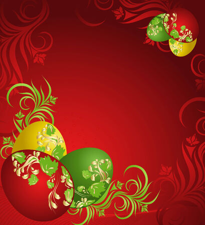 saturated: Red background with easter eggs and pattern