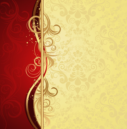 royal background: Illustration with decorative seamless royal ornament and floral wave