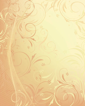 ornamented: pastel decorative floral design background