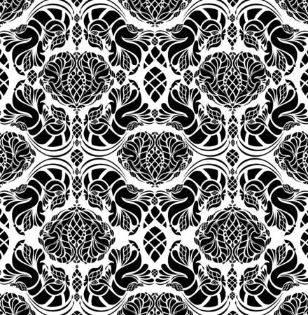 beauty royal decorative seamless floral ornament Vector