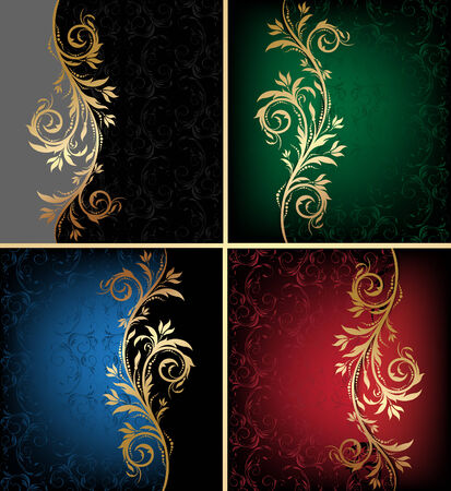 scroll design: decorative colorful design backgrounds with floral wave