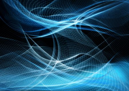 Abstract modern background with futuristic blue waves Foto de archivo