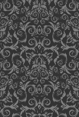 Decorative seamless floral beauty royal gray ornament Vector