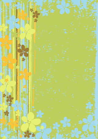 Color floral background Vector