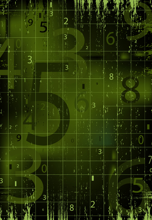 numeric: Digital black and green background