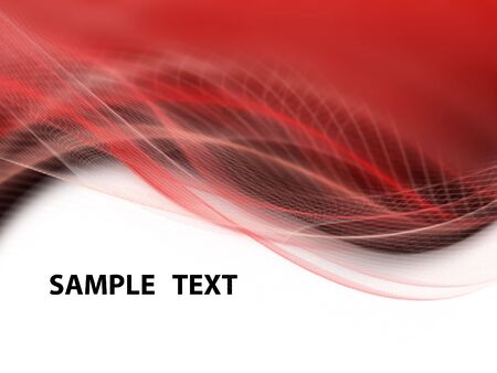 elegantly: White, black and red modern futuristic background with abstract waves