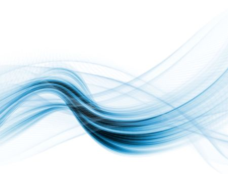 White and blue modern futuristic background with abstract waves Stock Photo