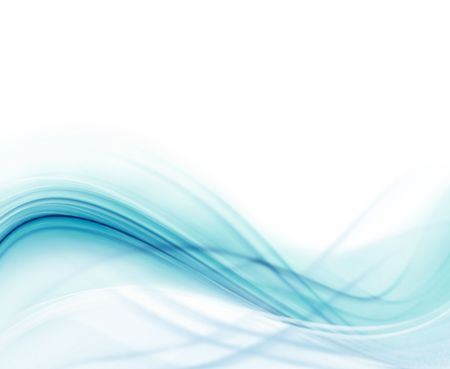 Blue and white modern futuristic background with abstract waves photo