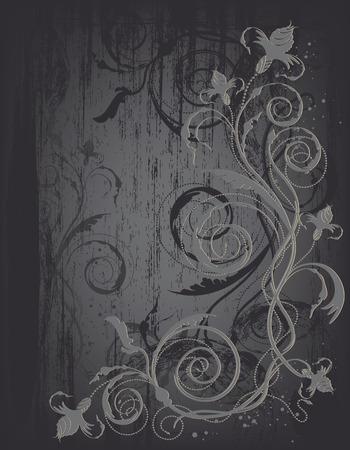 decorative design background with floral design Illustration