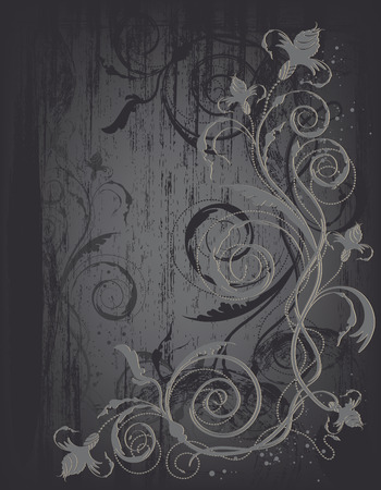 decorative design background with floral design 矢量图像