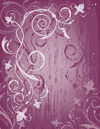 decorative design background with floral design Stock Vector - 7516866