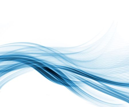 blue waves: White and blue modern futuristic abstract background Stock Photo