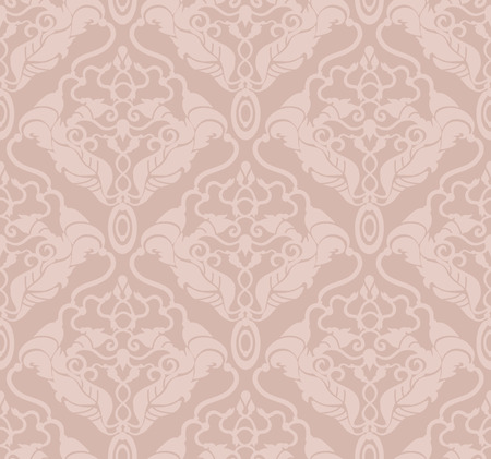Decorative vector pastel seamless floral ornament Illustration