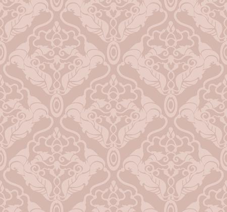 Decorative vector pastel seamless floral ornament Vectores