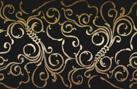 drapery: Decorative vector seamless floral ornament