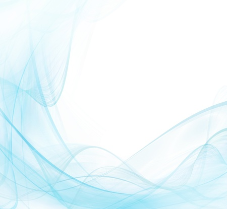 elegantly: White and blue abstract modern background with waving lines Stock Photo