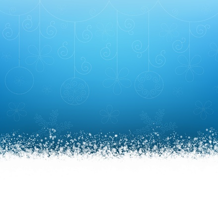 Christmas blue background with snowflakes Stock Photo - 8423118