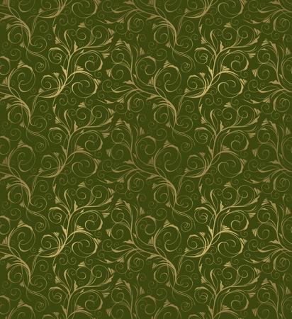 Bez szwu green and gold piÄ™kno dekoracyjne ozdoba kwiatu