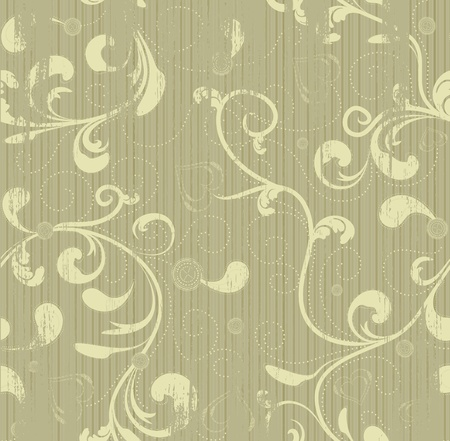 Grunge floral seamless vector beauty background Vectores