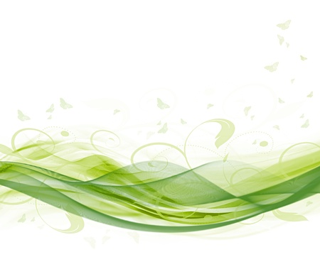 bitmap: Abstract modern summer white and green background (bitmap) Stock Photo