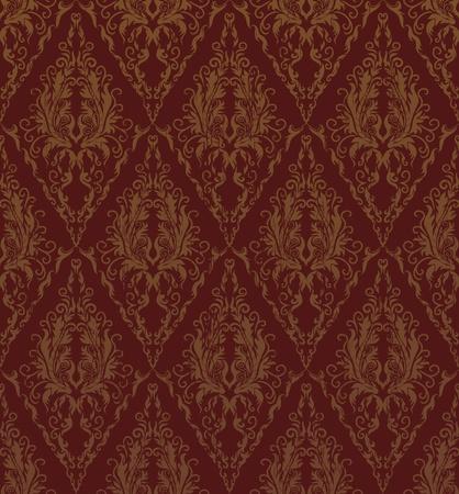 Floral seamless grunge vector royal beauty vintage pattern